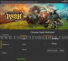 Useful For Games team prepared for You the Throne Rush hack. This game is a hit on Facebook and devices with Android and iOS.  http://usefulforgames.com/throne-rush-hack-tool