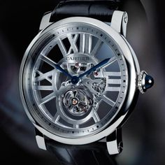 48d18d41213 Limited Edition Rotonde de Cartier Skeleton Flying Tourbillon Watch Men s  Watches