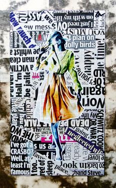 "Saatchi Online Artist Annie Terrazzo; Collage, ""The Becoming"" #art"