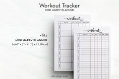 Workout Tracker MINI Happy Planner Workout Planner MINI