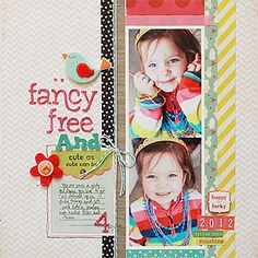 #papercraft #Scrapbook #layout  Fancy Free