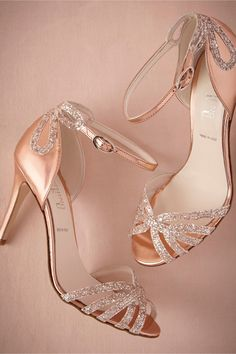 Rose Gold Glittered Heels from BHLDN