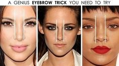Forget the old rules about starting your eyebrows in line with your nostrils. We show you a better way to decide which allows you to make your nose look narrower or wider by tweaking your eyebrows. Play around and see what best suits your face and then go for it. There are no rules in makeup...do whatever you love and leave the rest behind!