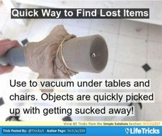 Quick Way to Find Lost Items