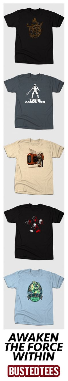 Shop our range of Star Wars t-shirts featuring classic and new characters!