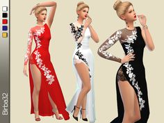 The Sims Resource: Happy New year dresses by Birba32 • Sims 4 Downloads
