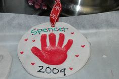 Wee Wilhites: Dough Handprint Ornaments