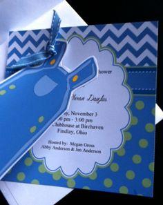 Baby Boy Birth Announcement Shower Invitation by JodysCottage, $20.00