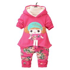 Kids Winter Velvet Dresses Clothing with Legging //Price: $19.19 & FREE Shipping //     #girlsdresses