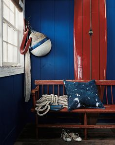 Rustic, relaxed and the perfect palette for summer: #RLPaint Harbor Blues.