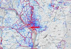 See Washington's Most Popular Bike and Running Routes in One Map | Fitness | Washingtonian