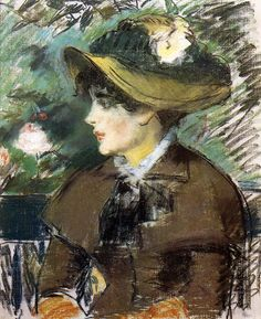 On the Bench - Edouard Manet - Gallery: Suzuki Collection, Tokyo, Japan
