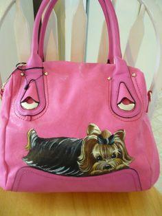 how beautiful? by misspaintsalot...and HANDPAINTED yorkie handbag on ebay.