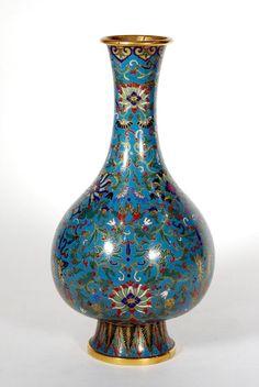 Fine Cloisonné Enamel Vase