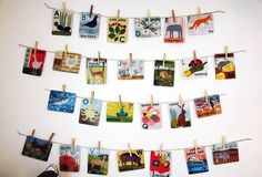 Hang alphabet cards on the wall...