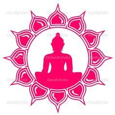 Meditation - Buddha - Lotus Flower — Stock Vector © lavalova #21263341