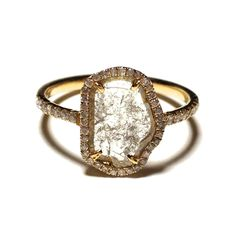 What an incredible engagement ring this would make!!  http://www.padmaandpickles.com/diamond-slices-pav-ring-p/pp-sl343y8a.htm