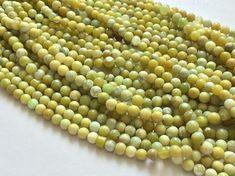 WHOLESALE 5 Strands Green Opal Beads Green Opal by gemsforjewels