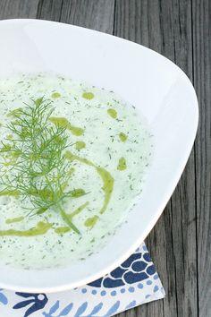 Minestra di cetrioli - A cold cucumber soup