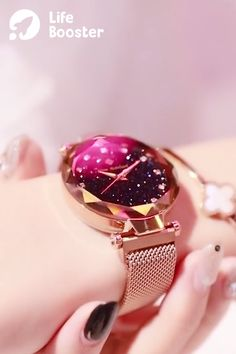Bling-Bling Starry Sky Watch with Magnetic Buckle 😍 These are beautiful! Love the purple one. Cute Jewelry, Jewelry Box, Jewelery, Jewelry Accessories, Fashion Accessories, Fashion Jewelry, Fashion Headbands, Nyc Fashion, Fashion Hats