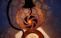 Decoration:Awesome Gourd Lamps Decoration  Gourd Lamps Decoration Motif With Fan