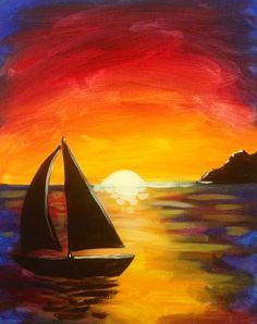 How to paint a beach sunset STEP by STEP. Description from pinterest.com. I…