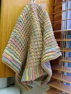 This pattern makes a nubbly, absorbent, durable hand towel, kitchen towel, or dish towel. Knit it in a softer cotton for a face towel.