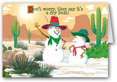 Dry Heat! Holiday Card #stonehousecards