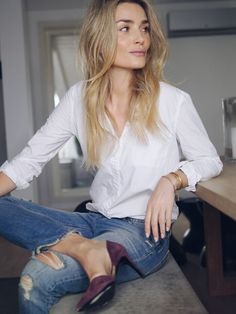 Just a perfect white shirt & Levis 501 More