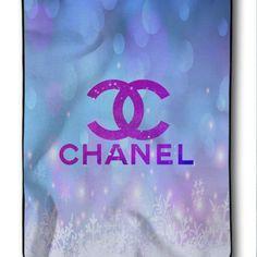 New Chanel Logo Snow For Christmas Printed Custom Blanket