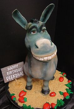 donkey cake by debbiedoescakes, via Flickr