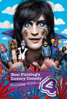 Noel Fielding's Luxury Comedy is a British sketch television series written and directed by Noel Fielding and Nigel Coan. The series stars Fielding,. Noel Fielding's Luxury Comedy, English Comedians, Julian Barratt, The Mighty Boosh, The Image Movie, Through Time And Space, Comedy Series, New Movies, Hindi Movies
