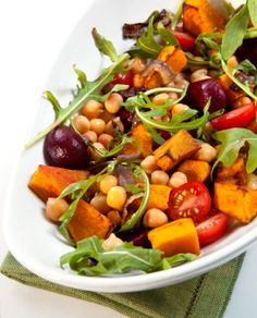 Yum. Chickpea, Beetroot And Pumpkin Salad, I think I'd add some avocado maybe too