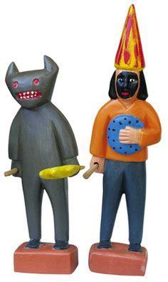 Hércules Modesto de Souza. Personagens do Bumba-meu-boi. 15cm