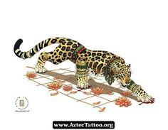 Jaguar Aztec Tattoo 09 - http://aztectattoo.org/jaguar-aztec-tattoo-09/