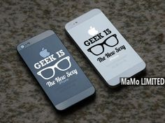 Geek-Iphone Decals Iphone Stickers Iphone Cover Skins Vinyl Decal for Apple Iphone 4/4S/5 Partial Skin Iphone Cover on Etsy, $5.56 CAD