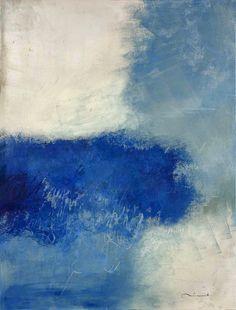 Núria Rossell, acrílic on canvas (Ànima blava) Artwork, Abstract Artwork, Abstract, Canvas