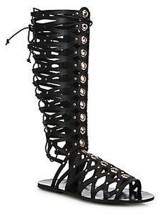 b16ef75eb29c Ivy Kirzhner - Symphony Tall Grommeted Leather Gladiator Sandals
