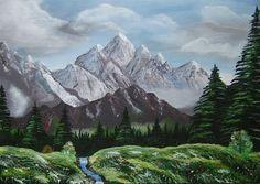 Montagne  Technique : Acrylique sur toile Genre : Paysage Style : Figuratif Réalisé en : 6 mars 2014 Taille : 46,00 cm x 33,00 cm