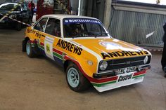 Ex Works Ford Escort used by Russell Brookes for the Circuit of Ireland Rally in 1979 in it's Andrews Heat for Hire livery Escort Mk1, Ford Escort, Datsun Car, Ford Rs, Ford Classic Cars, Classic Motors, Rally Car, Car In The World, Motor Car