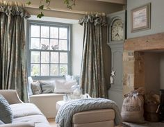 Sumptuous ruffled curtains re-pinned by www.gilroyinteriors.com Breathing life & colour onto your home!