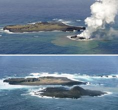 Japan's Newest Island Triples in Size