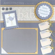Baby Boy Scrapbook by jk's mom - Cards and Paper Crafts at Splitcoaststampers