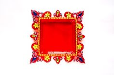 Buy Acrylic Pooja Thali - Red