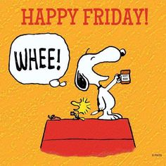 Happy Friday everyone friday tgif snoopy snoopyandwoodstock peanuts charliebrown cartoons cartoonstrip Snoopy Love, Charlie Brown And Snoopy, Snoopy And Woodstock, Peanuts Cartoon, Peanuts Snoopy, Tgif, Just Dance, Happy Dance, Viernes Friday