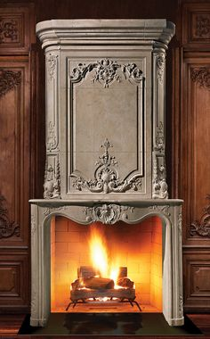 So What is a Fireplace Insert? - Fireplace Tip[s & Tricks - Fireplace Art, Candles In Fireplace, Bedroom Fireplace, Living Room With Fireplace, Fireplace Surrounds, Fireplace Design, Fireplace Ideas, Stone Mantel, Decorative Mouldings