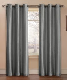 Another great find on #zulily! Gray Preston Faux Silk Curtain Panel - Set of Two #zulilyfinds