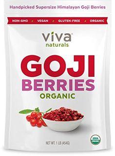 Viva Naturals Premium Himalayan Organic Goji Berries, Noticeably Larger and Juicier, 1lb bag * For more information, visit image link.