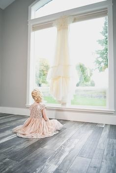 Flower girl wedding dress Photo from Weddings collection by LundynBridge Events
