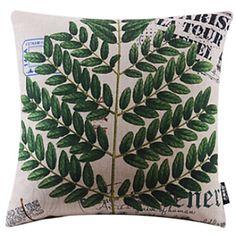 Cztery liście Style Bawełna / len dekoracyjne poduszki pokrywy – EUR € 12.37